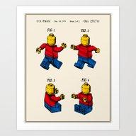 Lego Man Patent - Colour… Art Print