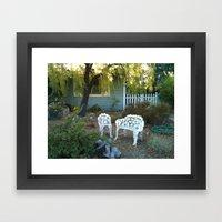 Sit by Me Framed Art Print