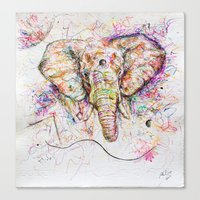 Elephant // Sananga Canvas Print