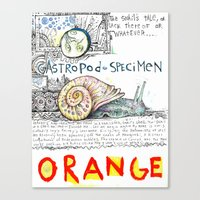 Snail Orange Alert Canvas Print