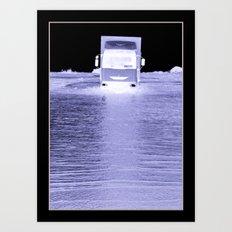 Intrepid Trucker Art Print