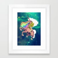 Gaga&Horse (The Galactic Tour of orgasms stellars from Unicorn) Framed Art Print