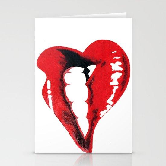 Lips Stationery Card