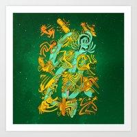 Space Codex 7801 Art Print
