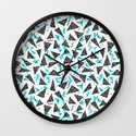 Missy - 80s Retro, Throwback Memphis Inspired Design Wall Clock