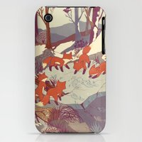 iPhone 3Gs & iPhone 3G Cases featuring Fisher Fox by Teagan White