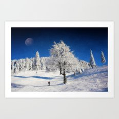 New Winter Day  Art Print