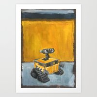 Wall-E and Rothko Art Print