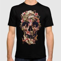Jungle Skull Mens Fitted Tee Black SMALL