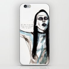 Now i'm not an artist / manson iPhone & iPod Skin