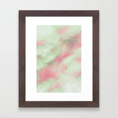 Pastel Christmas Framed Art Print