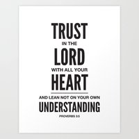 Trust In The Lord. Prove… Art Print