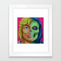 He-man & Skeleton Framed Art Print