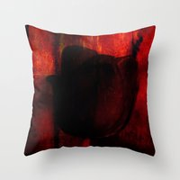 Venus Rose Red Throw Pillow