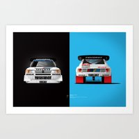Group B Edition, N.º1, Peugeot 205 T16 E2 Art Print