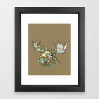Sorbet Moose Framed Art Print