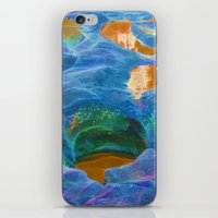 Abstract beautiful rock pools in the late afternoon iPhone & iPod Skin