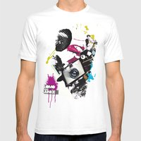 :: LOMO JUNKIE Mens Fitted Tee White SMALL