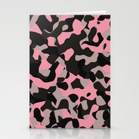 Pink Kitty Camo Stationery Cards