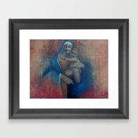 Virgin Blue Framed Art Print