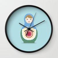 MATRYOSHKAS SERIES - LARISA Wall Clock