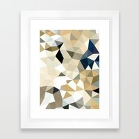 Neutral Tris Framed Art Print