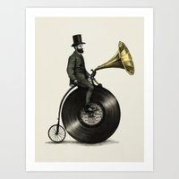 bicycle Art Prints featuring Music Man by Eric Fan