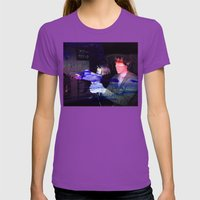 Jurassic Arcade Womens Fitted Tee Ultraviolet SMALL