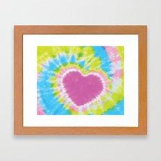 Love Tye Dye 2 Framed Art Print