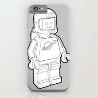 Vintage Lego Spaceman Wireframe Minifig iPhone 6 Slim Case