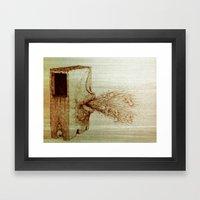 Baby Spitter Framed Art Print