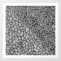 Double Scallop Art Print