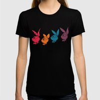 Playboy Turtles Womens Fitted Tee Black SMALL