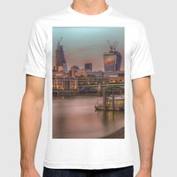 Days End In The City Mens Fitted Tee White SMALL
