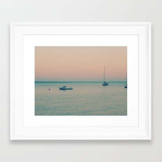 The sea is calling Framed Art Print