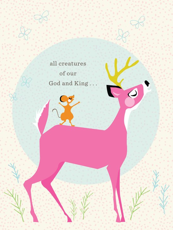 Deer & Mouse Singing Art Print
