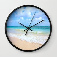 Wall Clock featuring Beach by WhimsyRomance&Fun