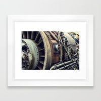 Jet Engine Framed Art Print