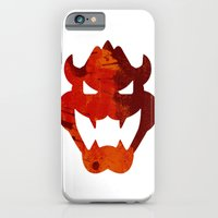 iPhone Cases featuring Bowser Head by Bradley Bailey