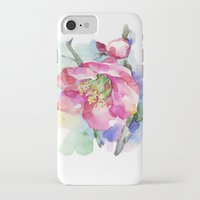 cherry blossom iPhone & iPod Cases featuring Cherry Blossom by A cup of grey tea