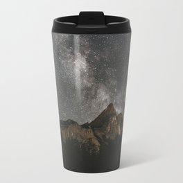 Travel Mug - Milky Way Over Mountains - Landscape Photography - regnumsaturni