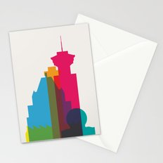 Shapes of Vancouver. Accurate to scale. Stationery Cards