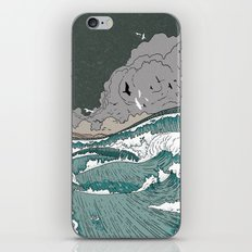 Stormy seas iPhone & iPod Skin