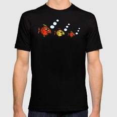 Plenty fish in the sea Black SMALL Mens Fitted Tee