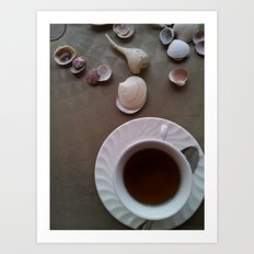 Tea Shells Art Print