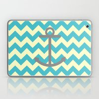 Chevron Anchor Laptop & iPad Skin