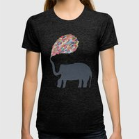 Elephant family Womens Fitted Tee Tri-Black SMALL