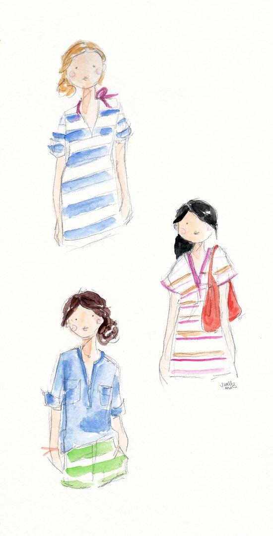 J Crew Summer Girls Art Print