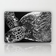 Beneath the Waves the Sea Turtle Swims Laptop & iPad Skin