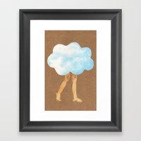 Cloud Girl Framed Art Print